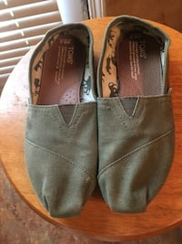 Army Green Toms Flats - Size 6.5W Ellenwood, 30294