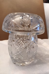 Candy dish. Made in Czechoslovakia  Hand cut  Toronto, M8Y 1N6