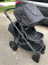 Britax BReady single/double stroller with attachments!
