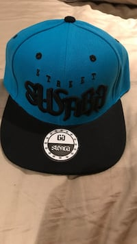 blue and black New Era 59Fifty snapback Burlington, L7M