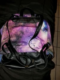 galaxy backpack w/ makeup included