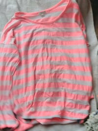 pink and white striped long-sleeved shirt Pendleton, 40055