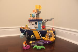 Fisher Price Imaginext Ocean Boat & Submarine & Accessories N0763