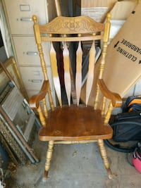brown wooden windsor rocking chair Los Angeles, 91335