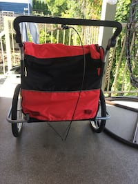 Ausom double stroller with bike attachment! Pretty much brand new FIRM Port Coquitlam, V3C 1P9