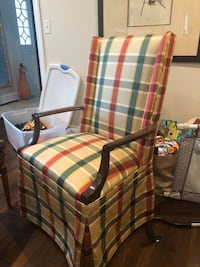 Antique Upholstered Arm Chair