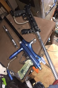 Two paintball guns with extras