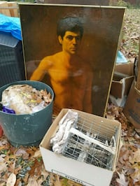 Crab traps, painting, at side of the road Falls Church, 22044