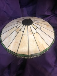 Tiffany Style Flush Mount Ceiling Lamp Stained Glass Mission Fixture