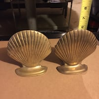 2 brass seashell figurine Burlington, 01803