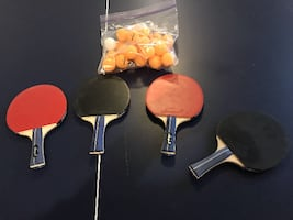 Ping Pong Table plus 4 Rackets and Tournament Net