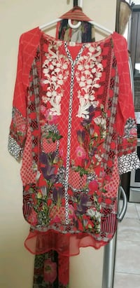 red and black floral long sleeve dress Brampton, L7A 0B2