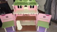 pink white and green plastic dollhouse Spring Lake, 28390