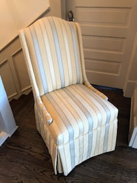 Chair set - 2 Upholstered Parson Chairs CHARLOTTE