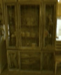 brown wooden framed glass display cabinet Napa, 94559