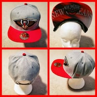 AUTHENTIC NBA BASKETBALL SNAPBACK HAT.