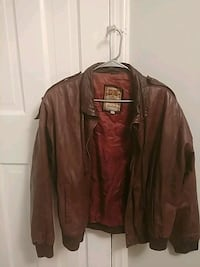 Leather bomber jacket ( size medium brown) Washington, 20019