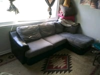 Small sectional with chase lounge. Has sum wear Chesapeake, 23325