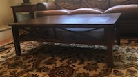 "Beautiful, walnut Haverty's coffee table. Only 2 years old. Dimensions: 50"" L, 30"" W, 17""H. A couple barely visible scratches on the top. Original price was $899. Alexandria, 22302"