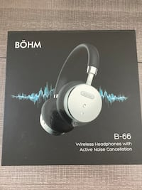 Bohm wireless headphones and noise cancelling