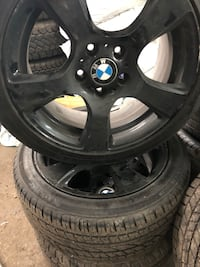 Black bmw 5-spoke wheel with tire set Laval, H7W 4G6