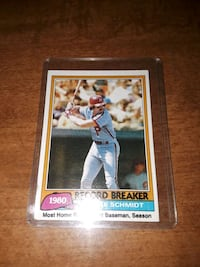 1981 Mike Schmidt , mint 9 !