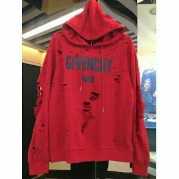 Givenchy rouge imprimé pull over jacket
