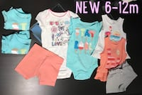 NEW! $3 each! 6-12mo Clothing 6pc (2 extra's if needed) London, N6A 1J1