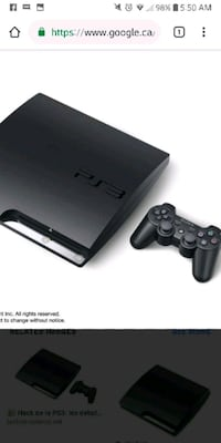 black Sony PS3 Slim with controller 513 km