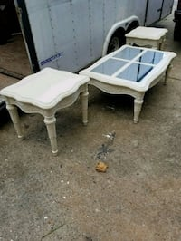 Vintage coffee table with two end tables Woodstock, 30188