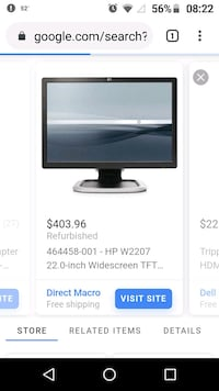 """HP W2207H HDMI Swivel and tilting 22"""" monitor"""