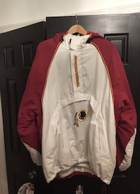 Redskins fleece lined pullover. Size XL