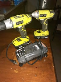 Ryobi impact and drill with charger