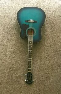 blue and black acoustic guitar Meridian, 83642