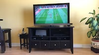 brown wooden tv stand Toronto, M6M 4A5