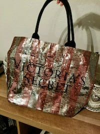 brown, green, and white knitted tote bag Dallas, 75220
