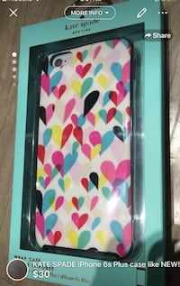 KATE SPADE iPhone 6s Plus case like NEW!comes with a KS box London, N5W 1C7