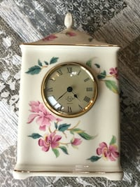 Lenox barr mantle clock  pink floral design great condition Brookfield, 06804