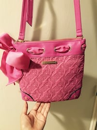 Pink and brown leather tote bag Antioch, 94531