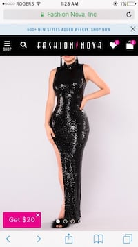 Fashion Nova - Sequin Maxi Dress (brand new) Montréal, H9H 2W2