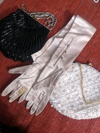 Two Vintage Purses and Gloves