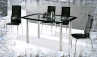 Glass 5pc Dining Table Set Silver Spring, 20906