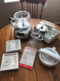 Kitchen Aid 13 cup food processor (silver)  lots of extras plus bowl.