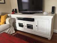 Solid wood white TV Cabinet  Arlington, 22204