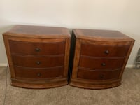 two brown wooden 3-drawer chests Cornelius, 28031