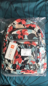 white and red floral backpack Modesto, 95350