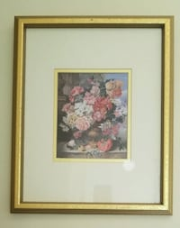brown wooden framed painting of flowers South Brunswick Township, 08852