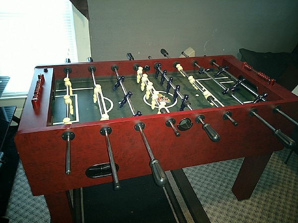 Used Cherry Color Highland Games Foosball Table For Sale In - Highland games foosball table