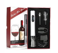 Electric Rechargeable Red Wine Bottle Opener gift set Montgomery Village, 20886