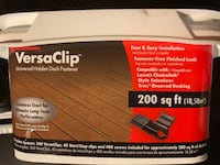 $99 for 2 BOXES - $158 EACH on Amazon - VersaClip hidden deck fasteners Warwick, 02889